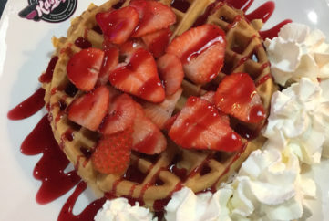 Wolf-down a Strawberry Delight Waffle