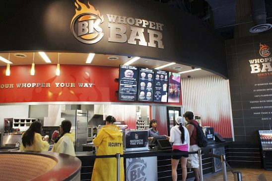 Burger King Whopper Bar